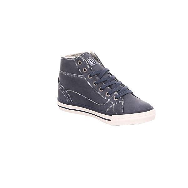 MUSTANG, Sneakers High, blau beliebte  Gute Qualität beliebte blau Schuhe d0a1c2