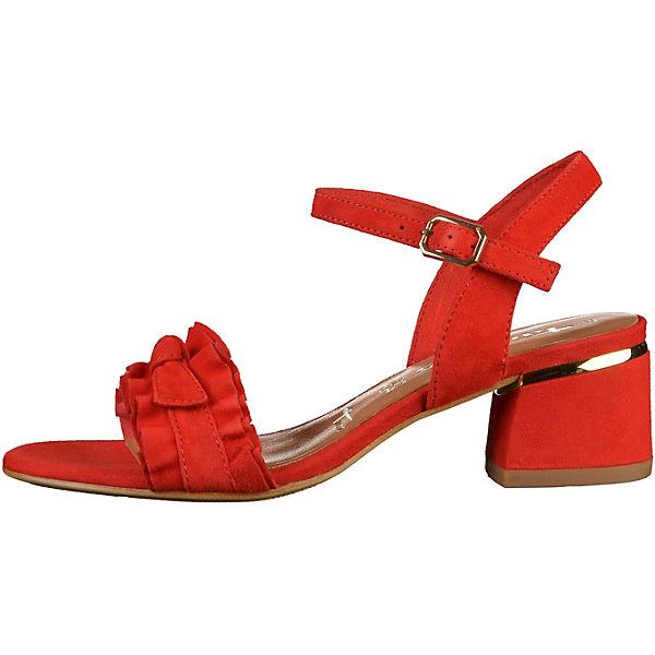 Tamaris, Klassische Sandaletten, rot