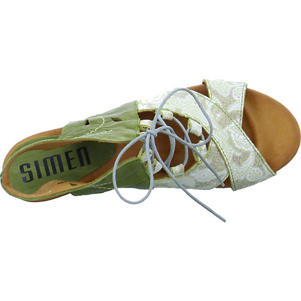 SIMEN, Schnürpumps, grün  beliebte Gute Qualität beliebte  Schuhe 66028f