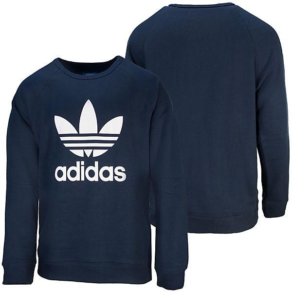 SweatshirtSweatshirts blau Trefoil adidas Originals Crew Pullover nAPZwvxqI