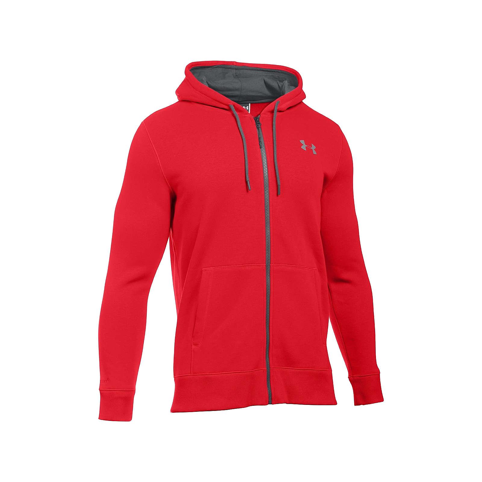 Under Armour Hoodie Storm Rival Cotton Full ZipSweatshirts rot Herren Gr. 46