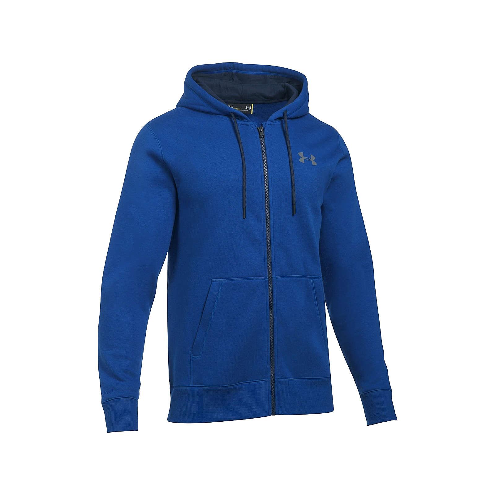 Under Armour Hoodie Storm Rival Cotton Full ZipSweatshirts blau Herren Gr. 46
