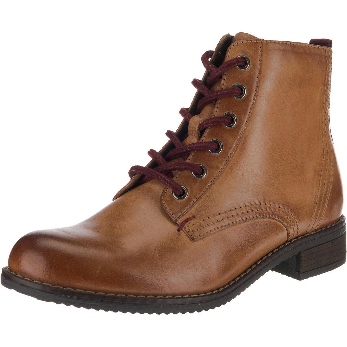 Klondike, Schnürstiefeletten, cognac  Gute Qualität beliebte Schuhe
