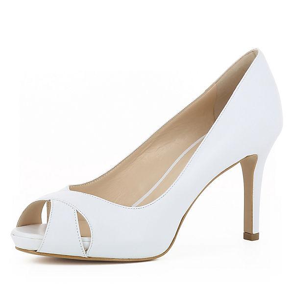 Pumps ELISA Shoes weiß Evita Peeptoe w1RqCqF