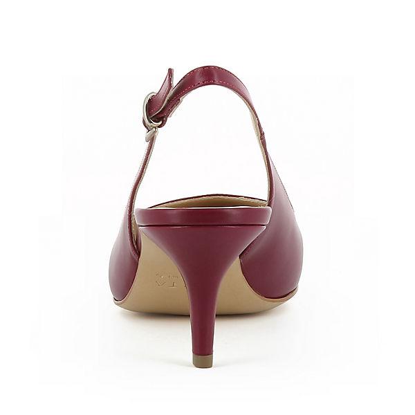 Evita Shoes, GIULIA Sling-Pumps, weinrot