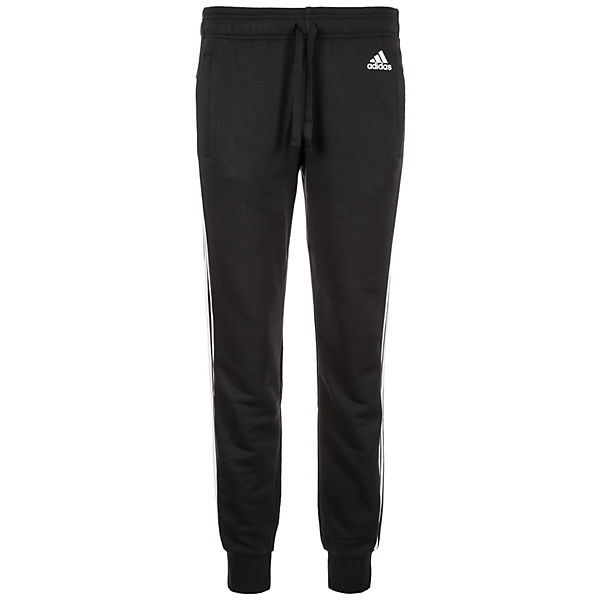 adidas Performance Essentials 3-Stripes Cuffed Trainingshose Damen schwarz/weiß