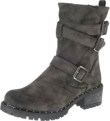 Taxi Shoes, Biker Boots, schwarz