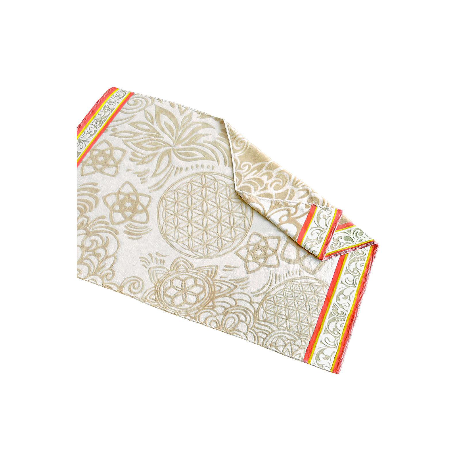 The Spirit of OM Plaid-Decke aus Baumwolle - na...