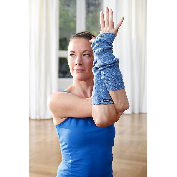 türkis Yoga Armwärmer Stulpen Yogistar blau w8CUACq