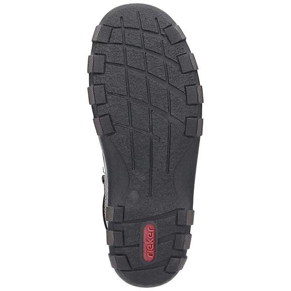 rieker rieker Schnürschuhe Schnürschuhe schwarz qT8zRIxw
