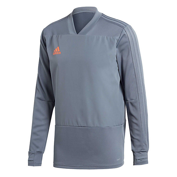 CG0381 18 Sweatshirts aus grau orange Focus Condivo Material Player Performance adidas ClimaLite® IRTx8Fq