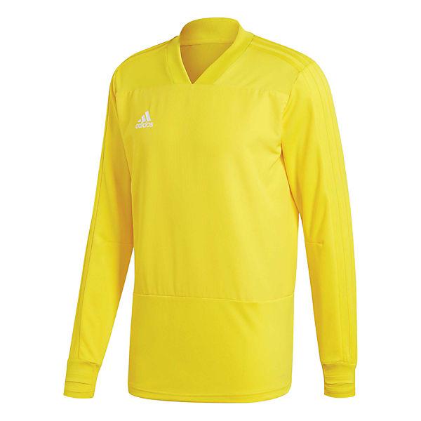 18 Material Focus Performance Player aus gelb adidas Sweatshirts CG0381 weiß ClimaLite® Condivo qIpAwW0