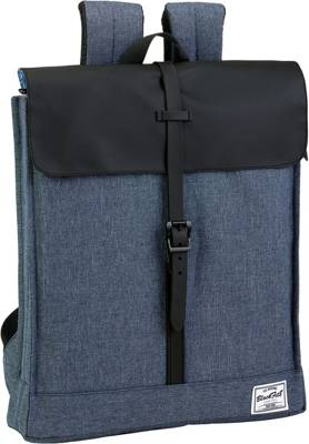 Rucksack Kuriertasche CLASSIC red melange grau