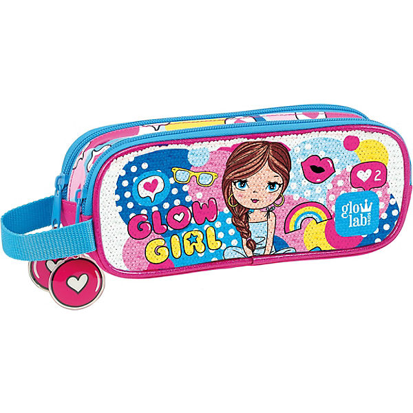 Schlampermäppchen glowlab Kids Glow Girl Sequins