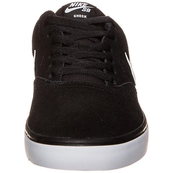 NIKE SB, schwarz/weiß Check Solarsoft Sneakers Low, schwarz/weiß SB,   b11d4a