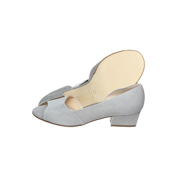 PETER KAISER, Peeptoe-Pumps, grau  Schuhe Gute Qualität beliebte Schuhe  84e917