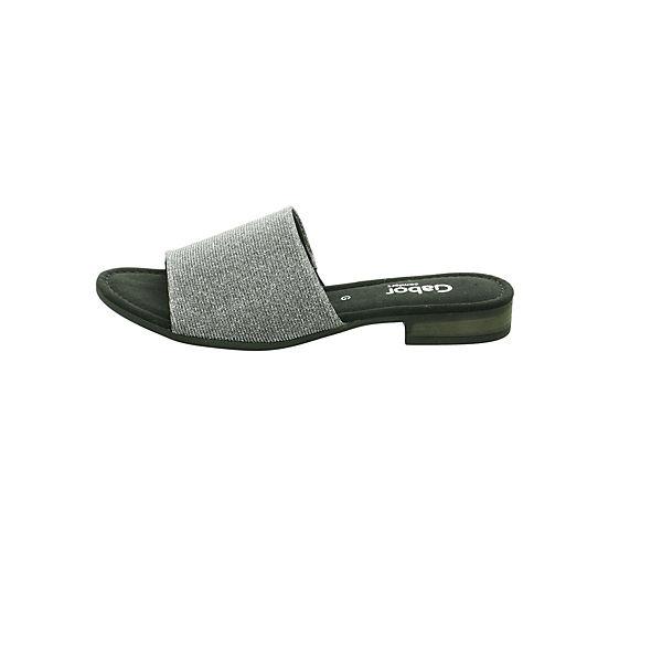Gabor, Pantoletten, grau  Gute Qualität beliebte Schuhe