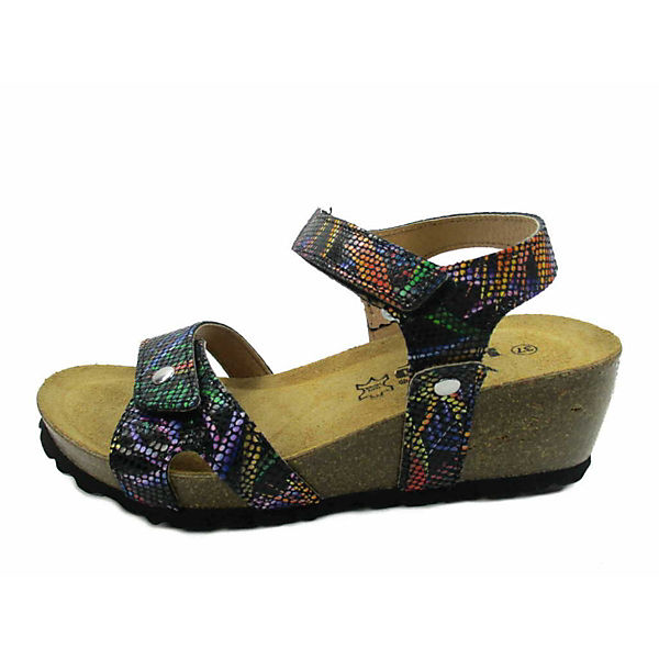Longo, Klassische Sandaletten, schwarz