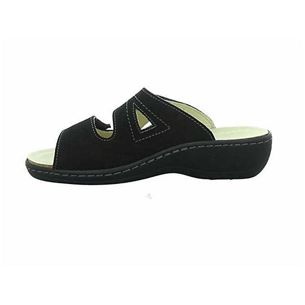 Longo Pantoletten schwarz  Gute Qualität beliebte Schuhe