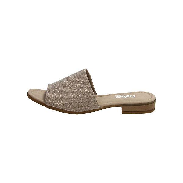 Gabor, Pantoletten, Gute beige  Gute Pantoletten, Qualität beliebte Schuhe 579057
