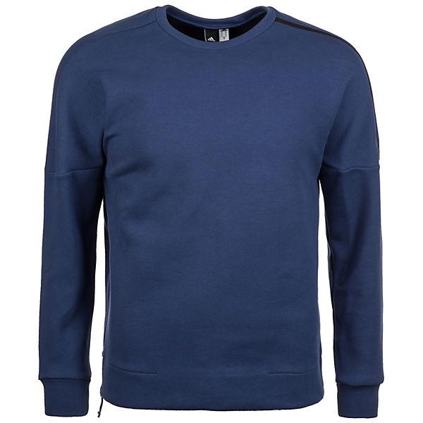 Z Sweatshirt Performance adidas N Zip E Quarter adidas blau Herren Crew fnw8ERRqUx