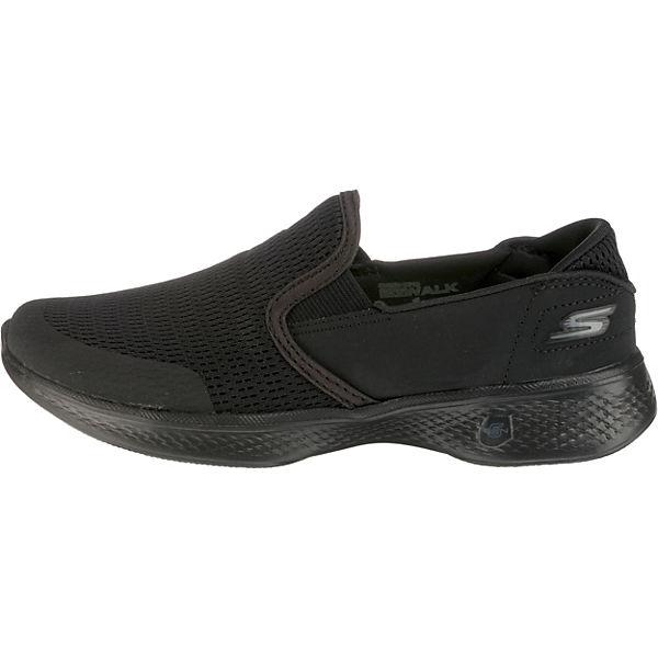 4 GO Sportliche Slipper schwarz WALK nbsp;ATTUNED SKECHERS Agqwawx