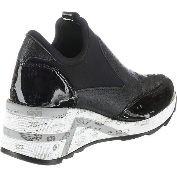 schwarz On Sneaker Slip kombi Cetti 4Pqgnq