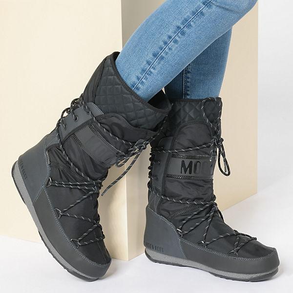 Moonboot Moon Boot W.E. Monaco Flip WP Winterstiefel schwarz/grau  Gute Qualität beliebte Schuhe