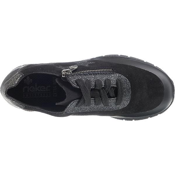 rieker, Schnürschuhe, schwarz  Gute Schuhe Qualität beliebte Schuhe Gute 68b762