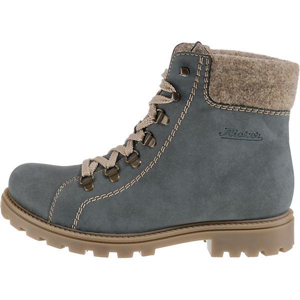 rieker Schnürstiefeletten beliebte blau  Gute Qualität beliebte Schnürstiefeletten Schuhe 04d285