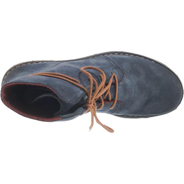 Rieker, Schnürstiefeletten, blau  beliebte Gute Qualität beliebte  Schuhe db2786