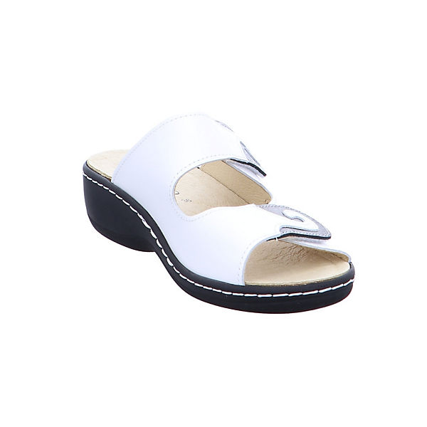 Longo, 1006401 Komfort-Pantoletten, weiß weiß Komfort-Pantoletten,   663f9c