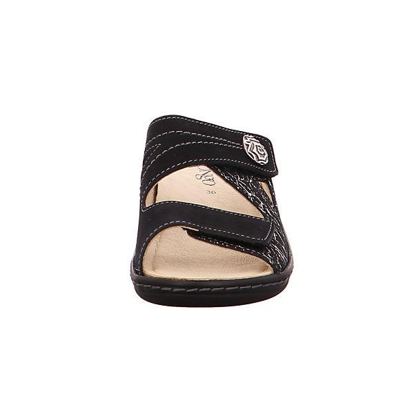 Longo Nubuk1006407 Komfort-Pantoletten schwarz  Gute Qualität beliebte Schuhe