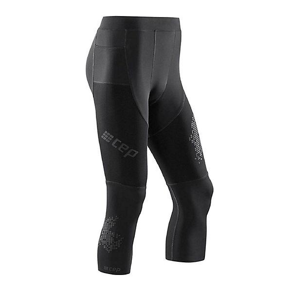 3 schwarz Kompressionswirkung 0 CEP maximaler Leggings Tights Run W8185C mit nzFpE