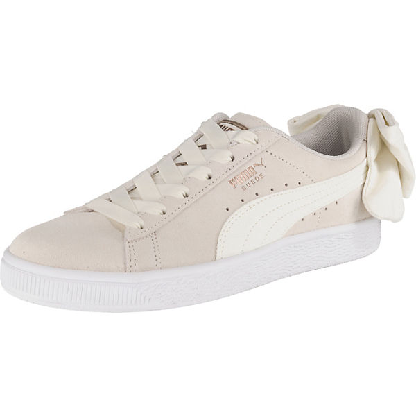 Suede Bow Sneakers Low