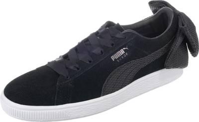 PUMA, Suede Bow Uprising Sneakers Low, schwarz