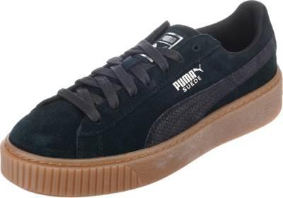 PUMA, Suede Platform Animal Sneakers Low, schwarz kombi