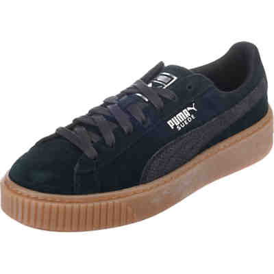 Suede Platform Animal Sneakers Low