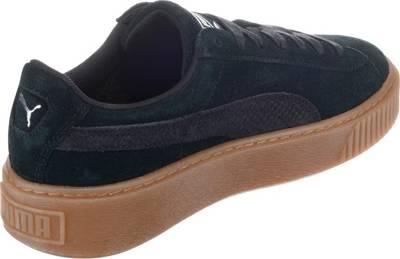 PUMA, Suede Platform Animal Sneakers Low, schwarz | mirapodo