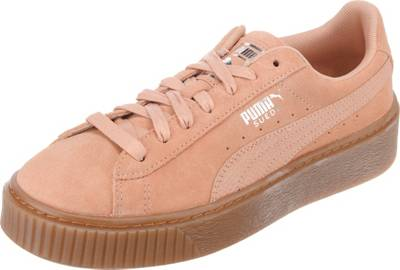 PUMA, Suede Platform Animal Sneakers Low, koralle