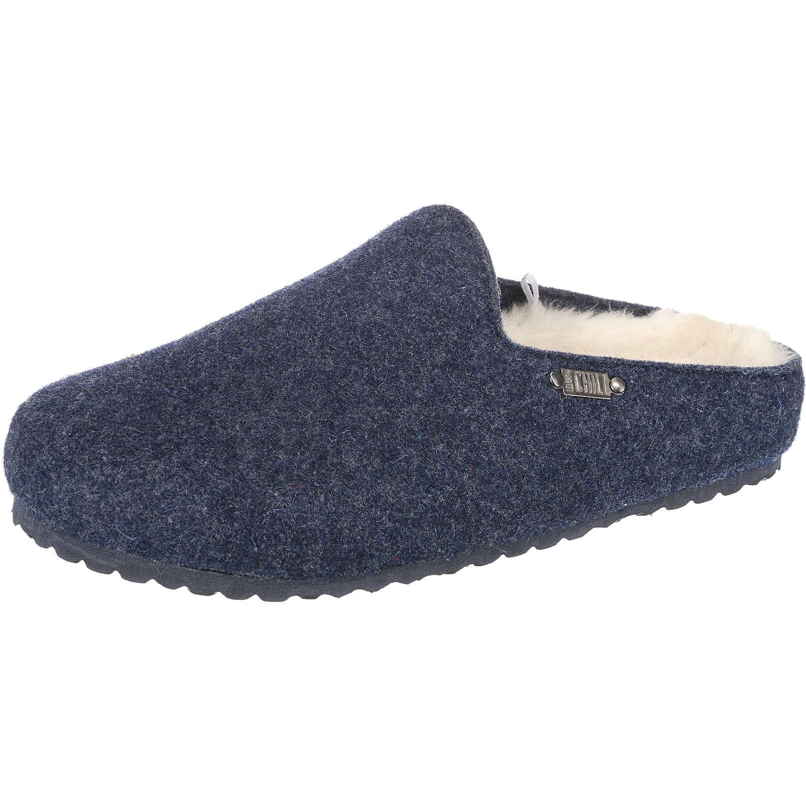 Jane Klain Pantoffeln blau Damen Gr. 39