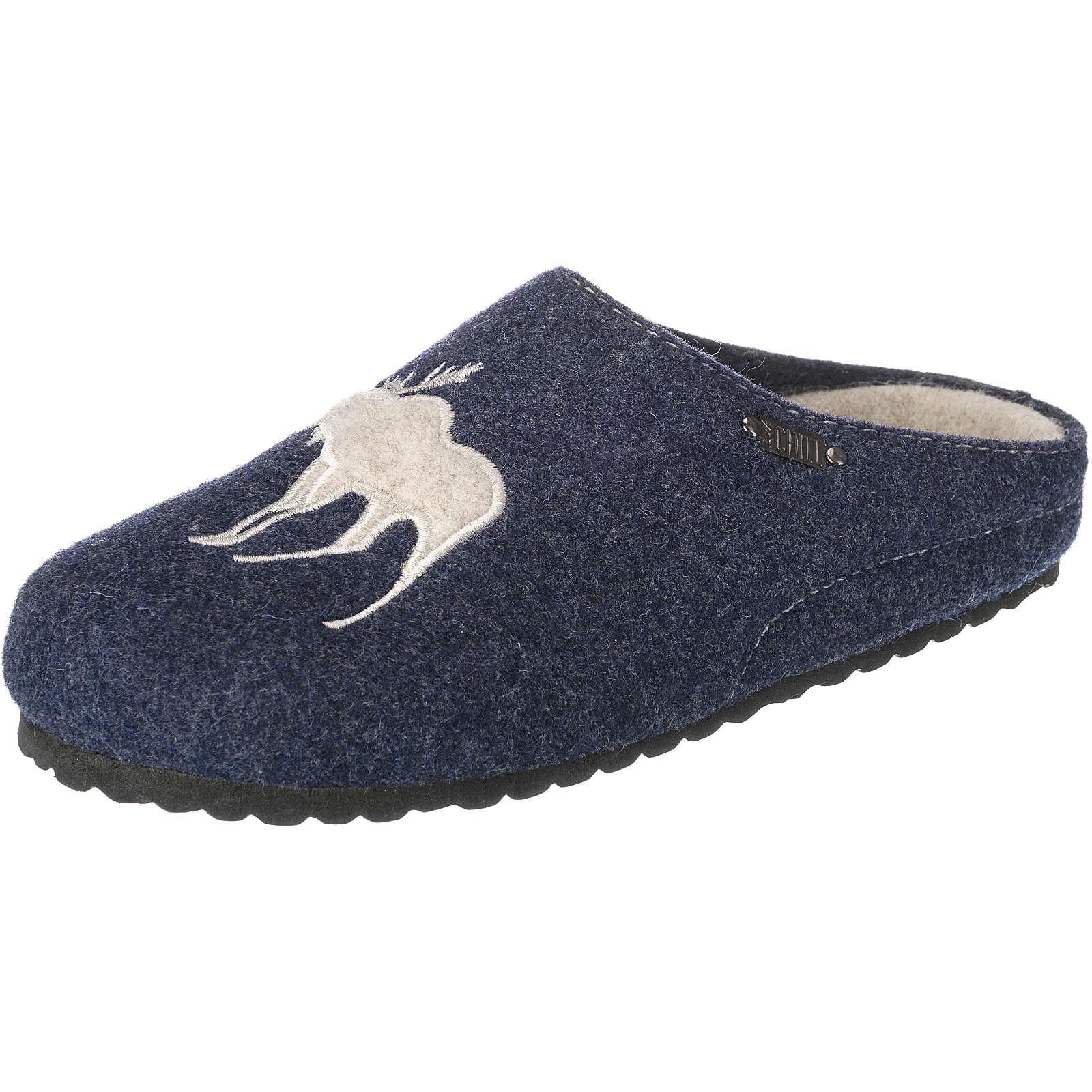 Jane Klain Pantoffeln blau Damen Gr. 38