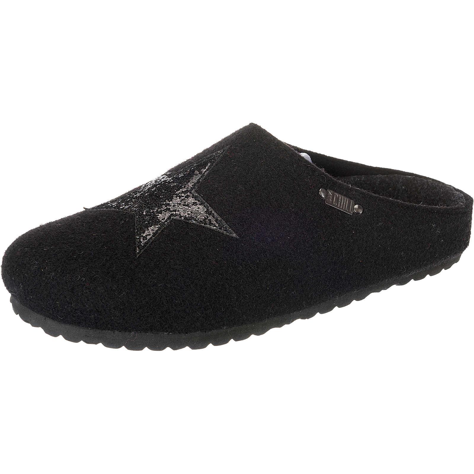 Jane Klain Pantoffeln schwarz Damen Gr. 42