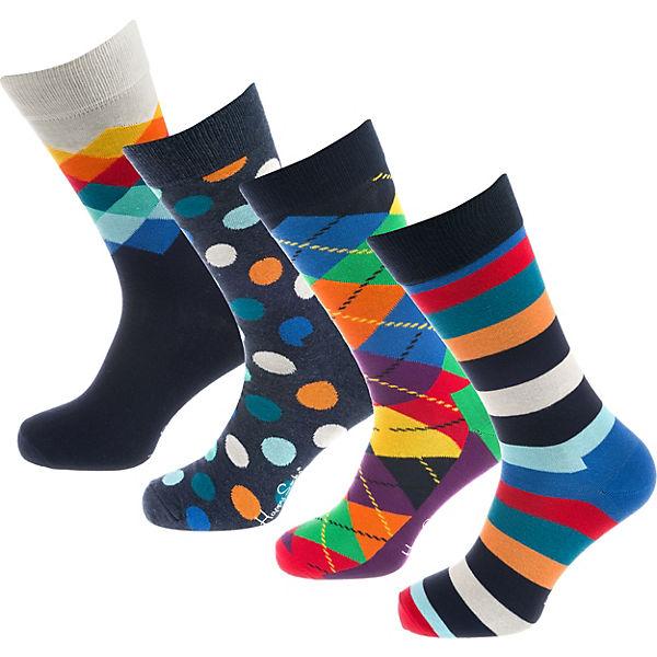 Happy Socks 4 Paar Socken Geschenkebox Mix bunt