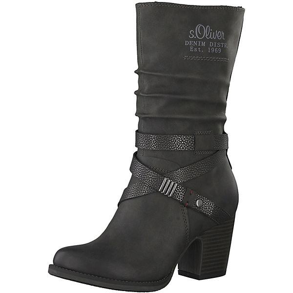 s.Oliver, Klassische Stiefel, schwarz   mirapodo 58f829b246