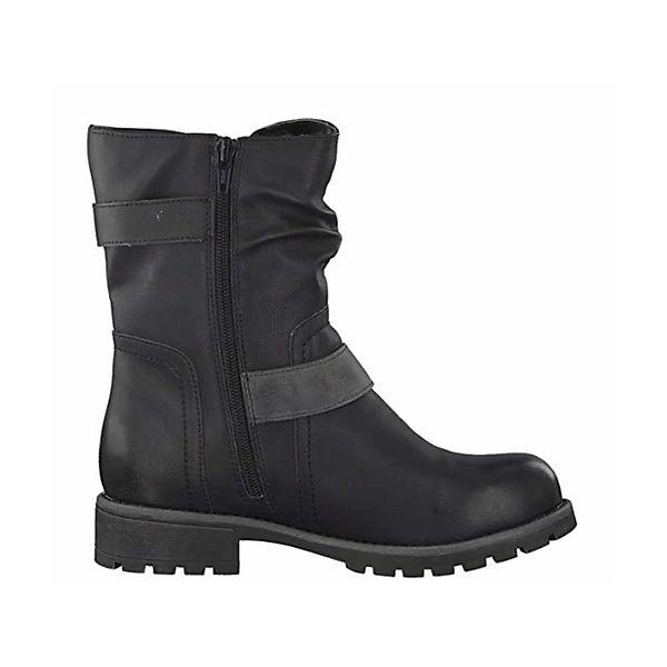 Jana, Biker Boots, schwarz   schwarz  9e7d00