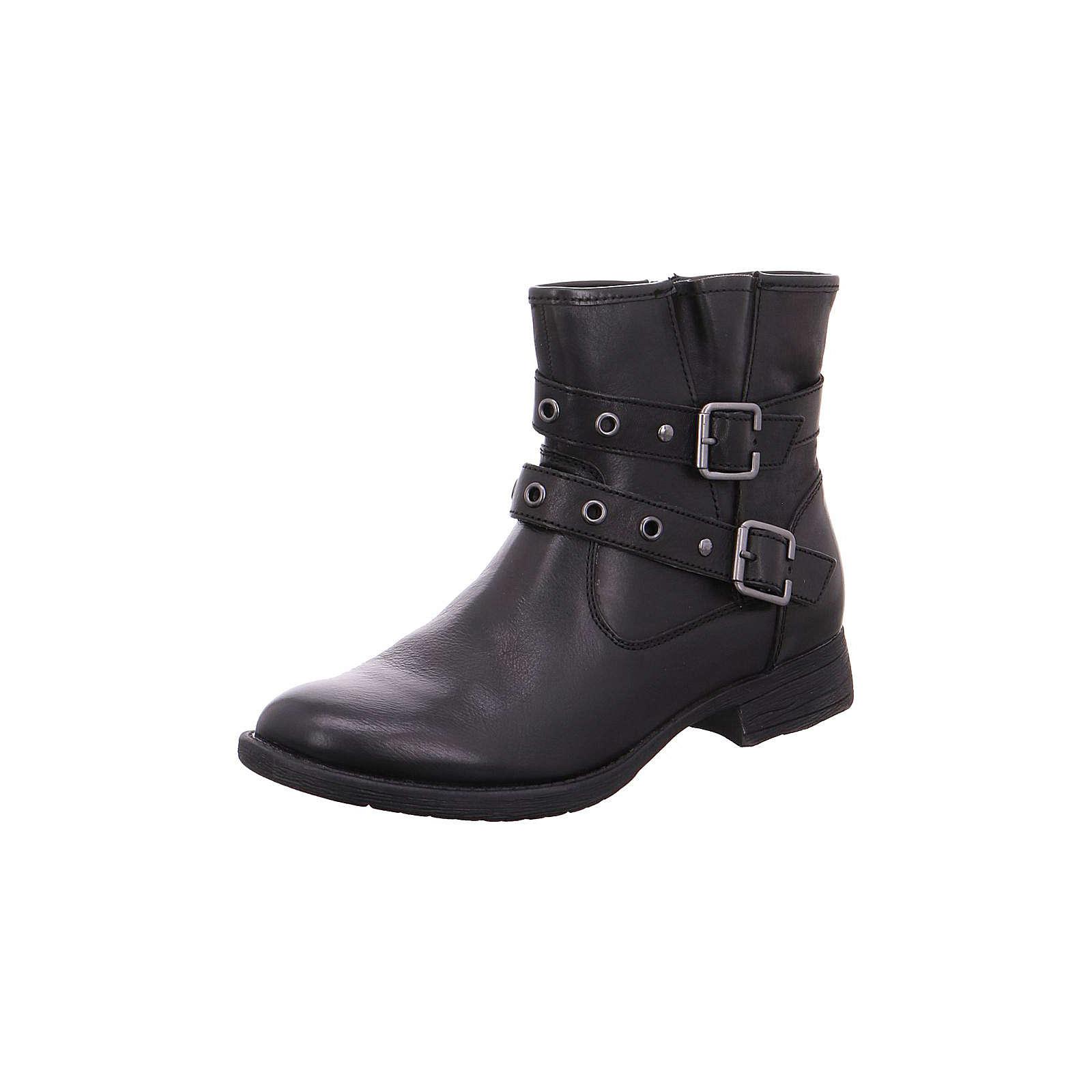 Jana Biker Boots schwarz Damen Gr. 37