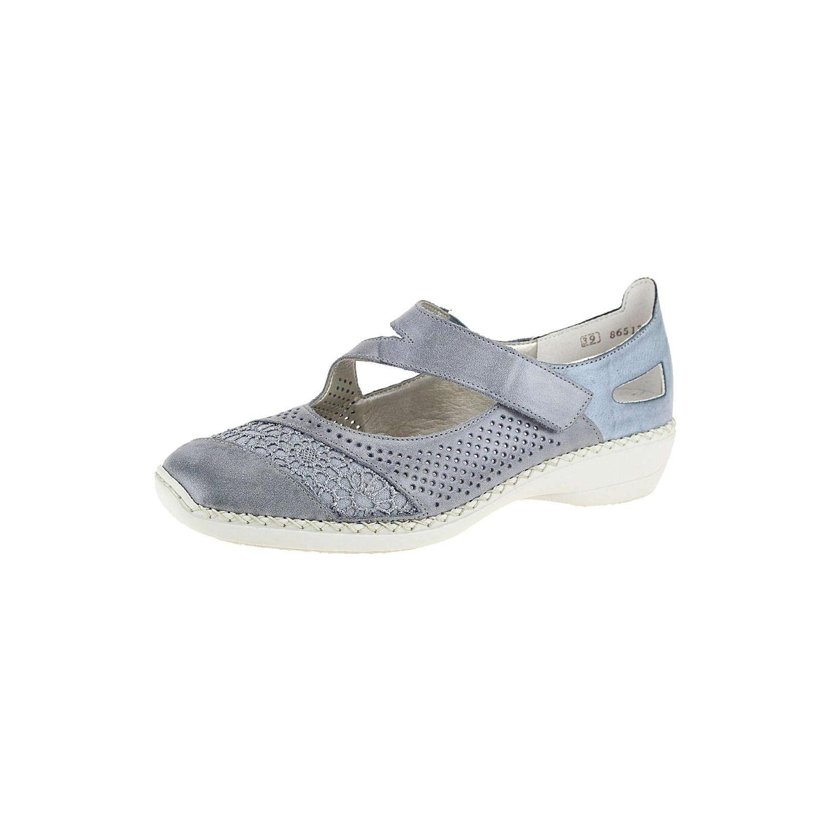 separation shoes 0e1ac 77fef Rabatt-Preisvergleich.de - rieker Offene Halbschuhe blau ...