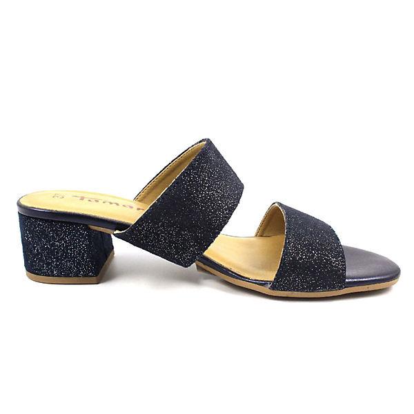 Tamaris, Pantoletten, beliebte blau  Gute Qualität beliebte Pantoletten, Schuhe d73224