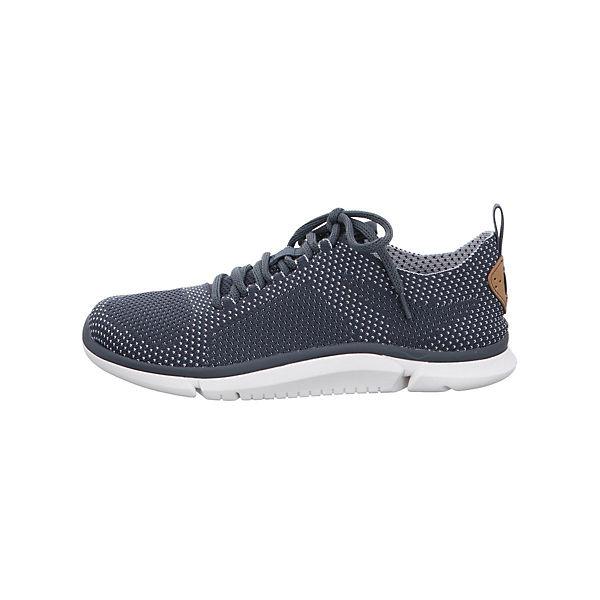 Clarks, Schnürschuhe, blau  Gute Qualität beliebte Schuhe